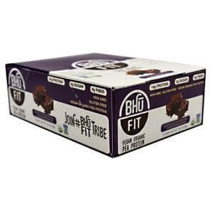 Bhu Foods BHU FIT BAR VEGAN BROWNIE 12/B