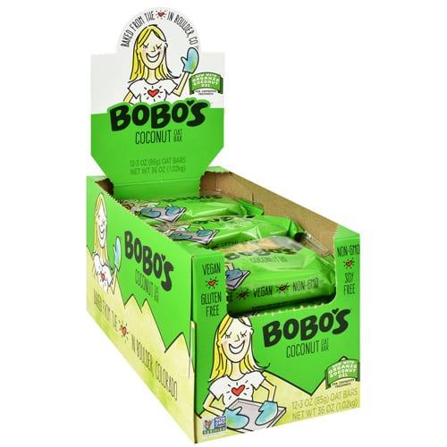 Bobo's OAT BARS COCONUT 12/BOX