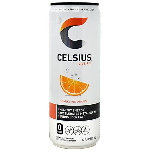 Celsius CELSIUS ORANGE 12oz 12/CASE