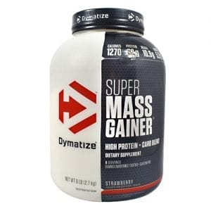 Dymatize SUPER MASS GAINER STRAWBE 12LB
