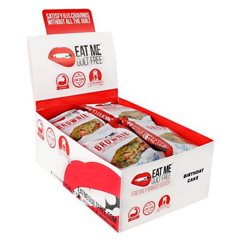 Eat Me Guilt Free BIRTHDAY CAKE BROWNIE 12/BOX