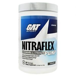 GAT NITRAFLEX PUMP UNFLAVORED 20/S