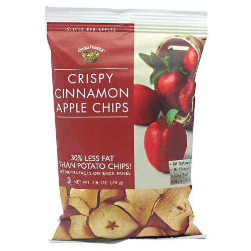 Good Health Natural Foods APPLE CHIPS CINNAMON 2.5oz 12/
