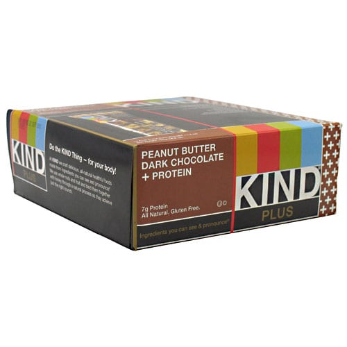 Kind Snacks KIND PLUS PB DARK CHOC 12/B