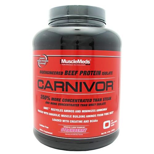 Muscle Meds CARNIVOR STRAWBERRY 4LB