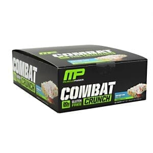 MusclePharm COMBAT CRUNCH BARS BDAY CKE 12