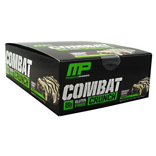 MusclePharm COMBAT CRUNCH BARS CHC COCO 12