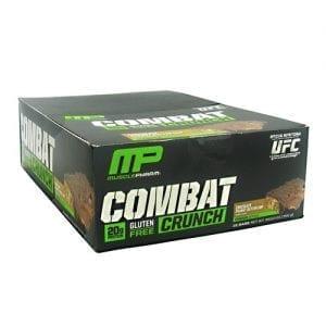 MusclePharm COMBAT CRUNCH BARS PB CUP 12/B
