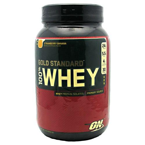 Optimum Nutrition 100% WHEY GOLD STRAW BAN 5LB