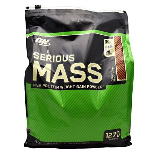 Optimum Nutrition SERIOUS MASS CHOCOLATE PB 12LB