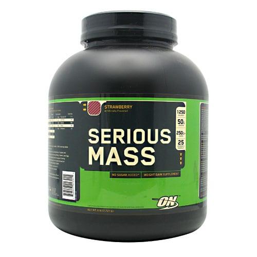 Optimum Nutrition SERIOUS MASS STRAWBERRY 12LB