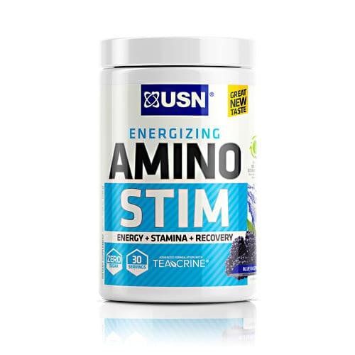 Usn AMINO STIM BLUE RASPBERRY 30/S