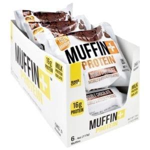 Bake City/ Protein+ MUFFIN+PROTEIN DBL CHC MUF 6/B