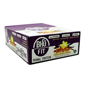 Bhu Foods BHU FIT BAR PRIMAL VANILLA 12/
