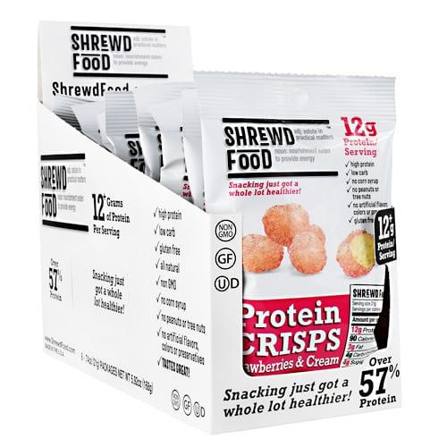 Shrewd Foods PROTEIN CRISPS STRW & CRM 16/B