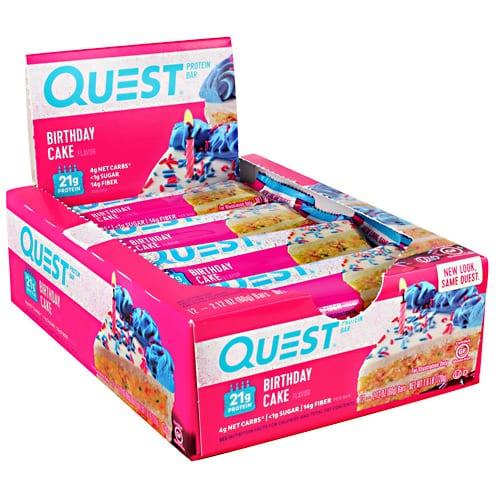 Quest Nutrition QUEST BAR BIRTHDAY CAKE 12/BOX