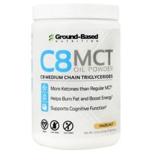 ground based nutrition c8 mct oil powder