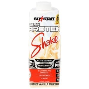 six star muscle clean protein shake